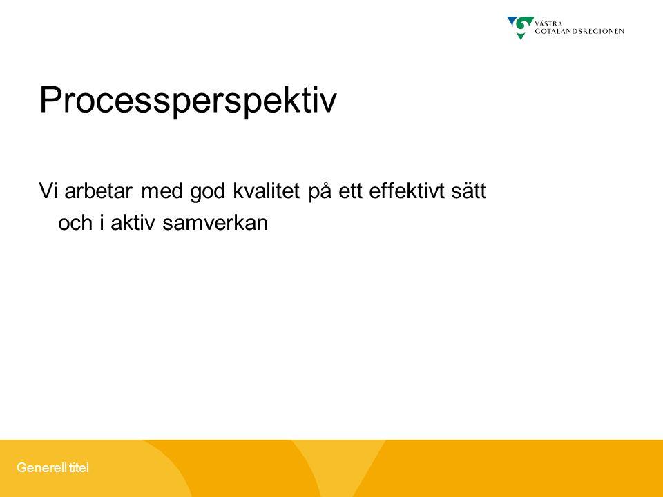 Processperspektiv Vi arbetar med god kvalitet på ett effektivt sätt