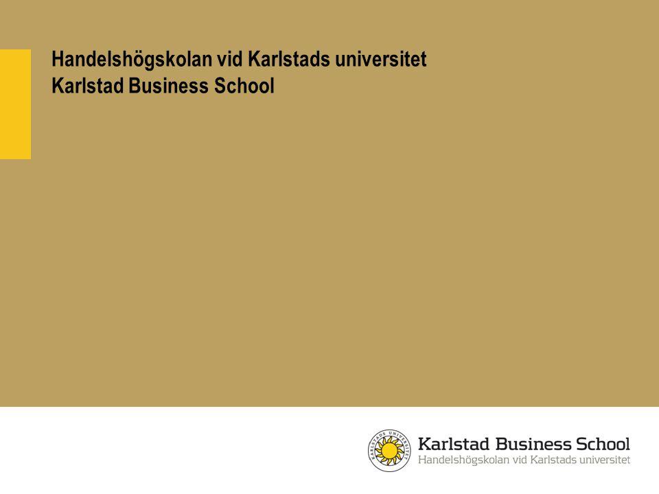 Handelshögskolan vid Karlstads universitet