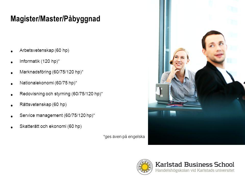 Magister/Master/Påbyggnad