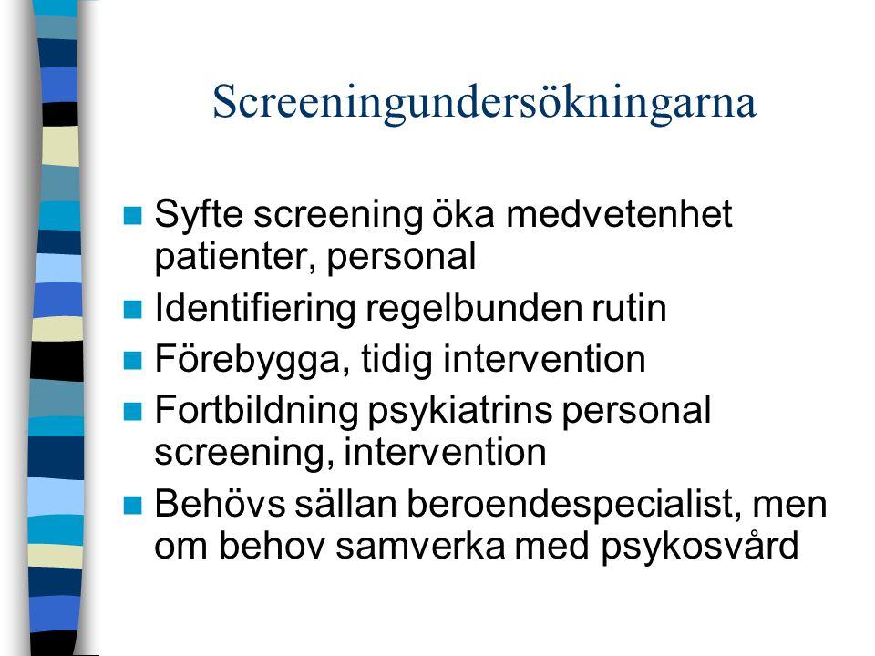 Screeningundersökningarna