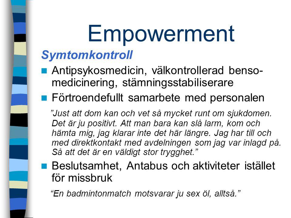 Empowerment Symtomkontroll
