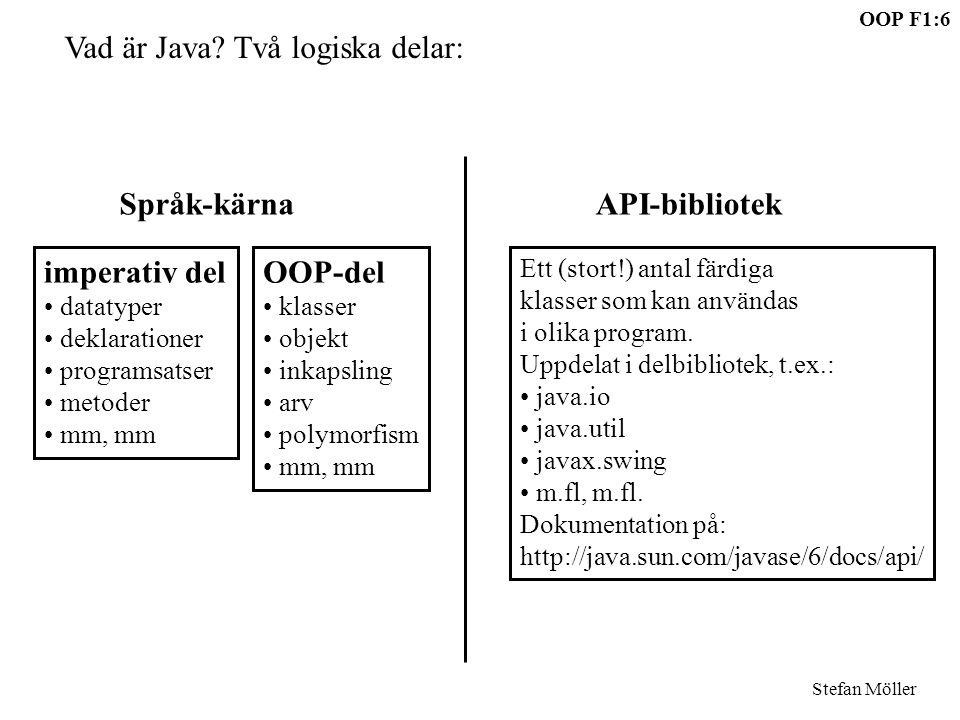 Vad är Java Två logiska delar: