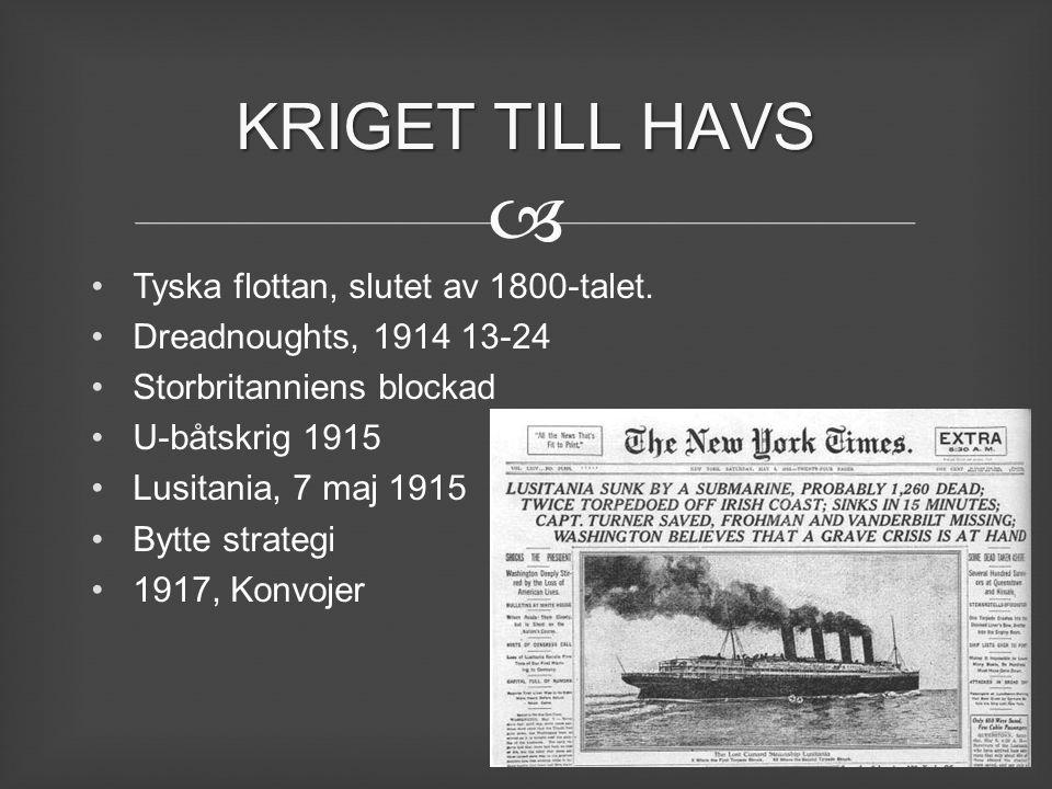 KRIGET TILL HAVS Tyska flottan, slutet av 1800-talet.