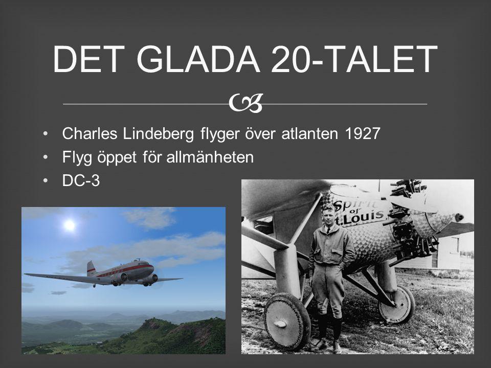 DET GLADA 20-TALET Charles Lindeberg flyger över atlanten 1927