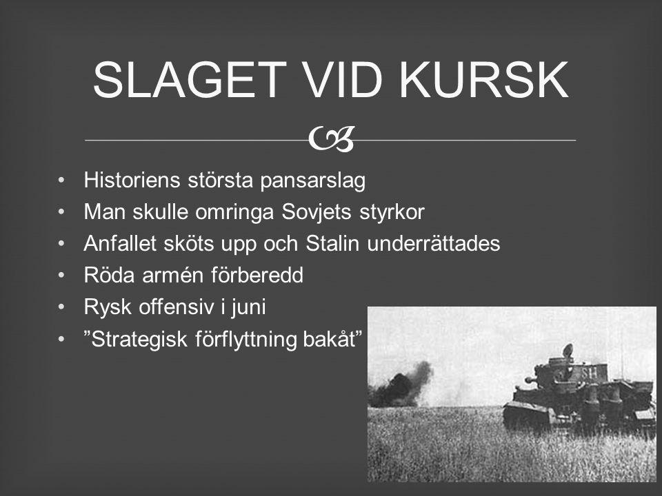 SLAGET VID KURSK Historiens största pansarslag