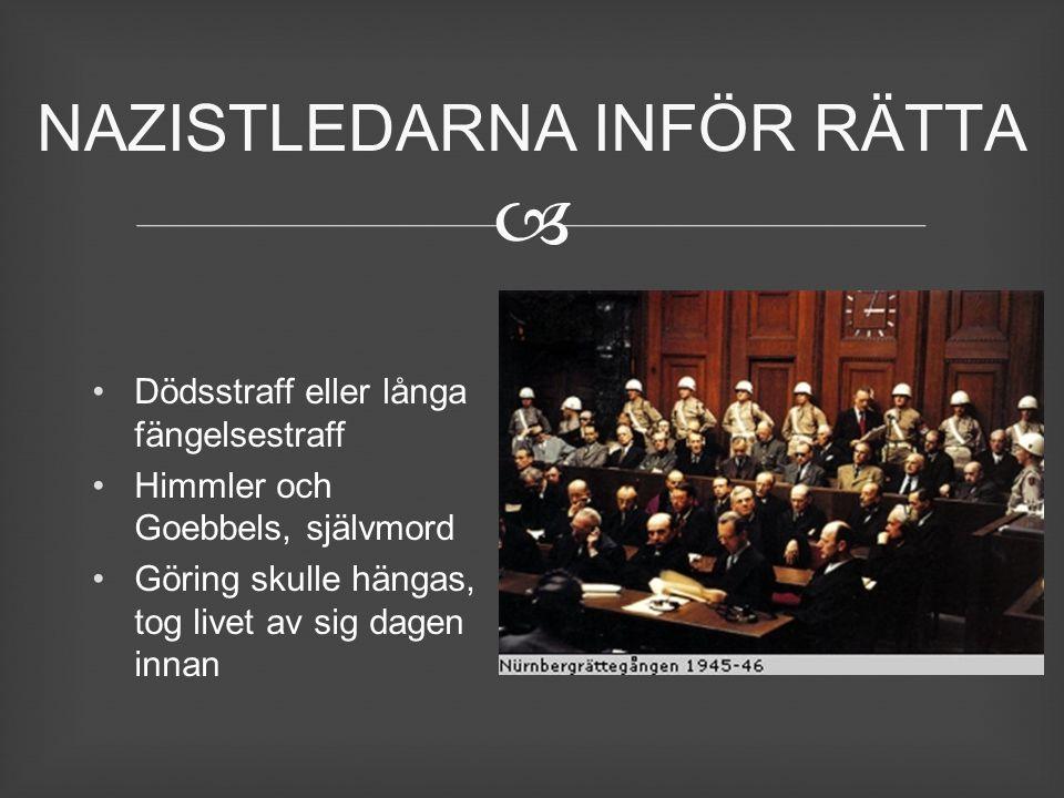 NAZISTLEDARNA INFÖR RÄTTA