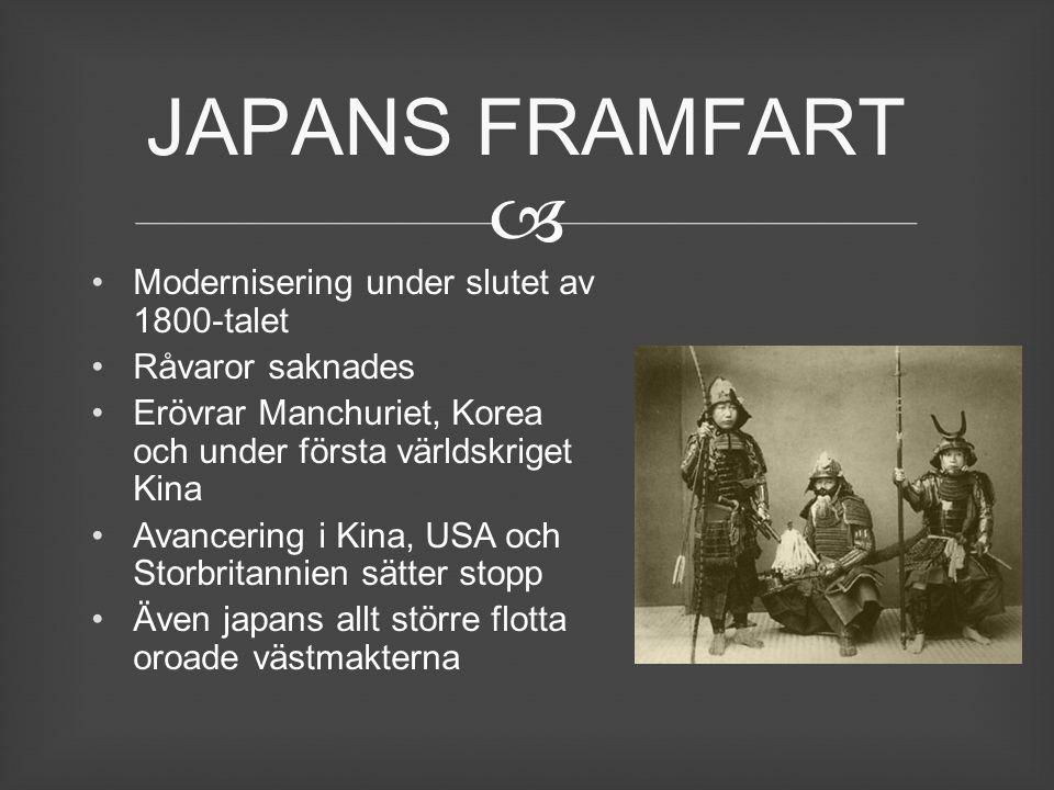 JAPANS FRAMFART Modernisering under slutet av 1800-talet