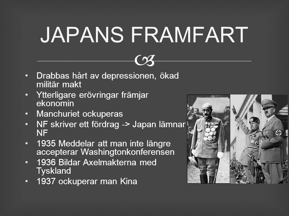JAPANS FRAMFART Drabbas hårt av depressionen, ökad militär makt