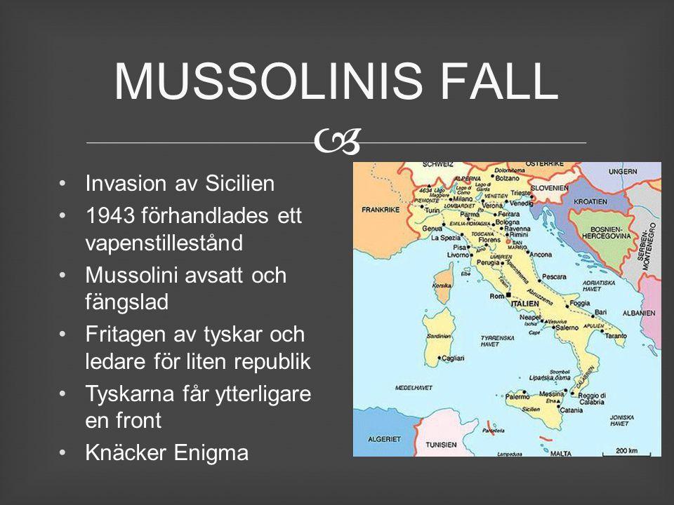 MUSSOLINIS FALL Invasion av Sicilien
