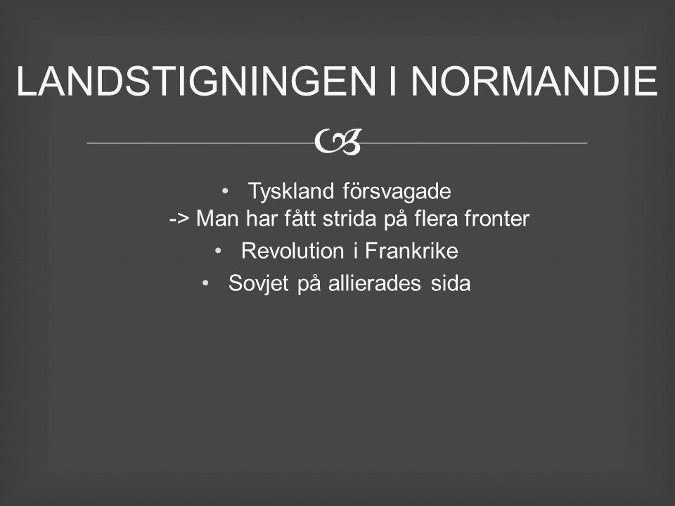 LANDSTIGNINGEN I NORMANDIE
