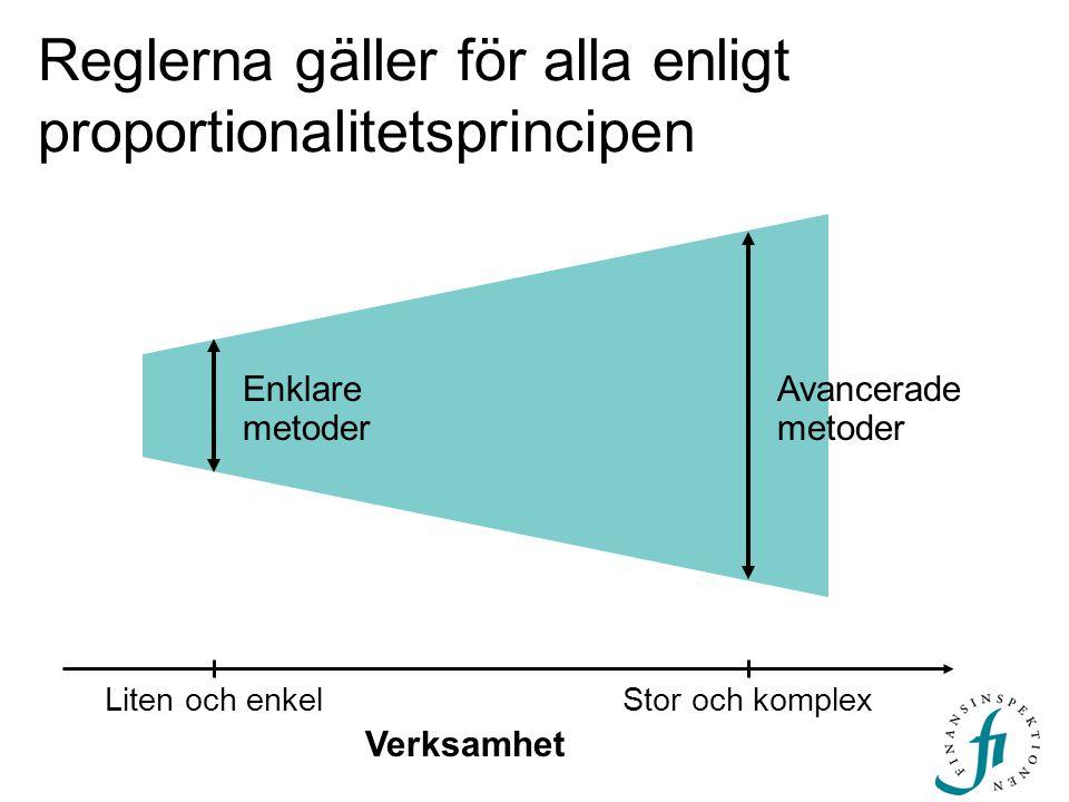 Reglerna gäller för alla enligt proportionalitetsprincipen