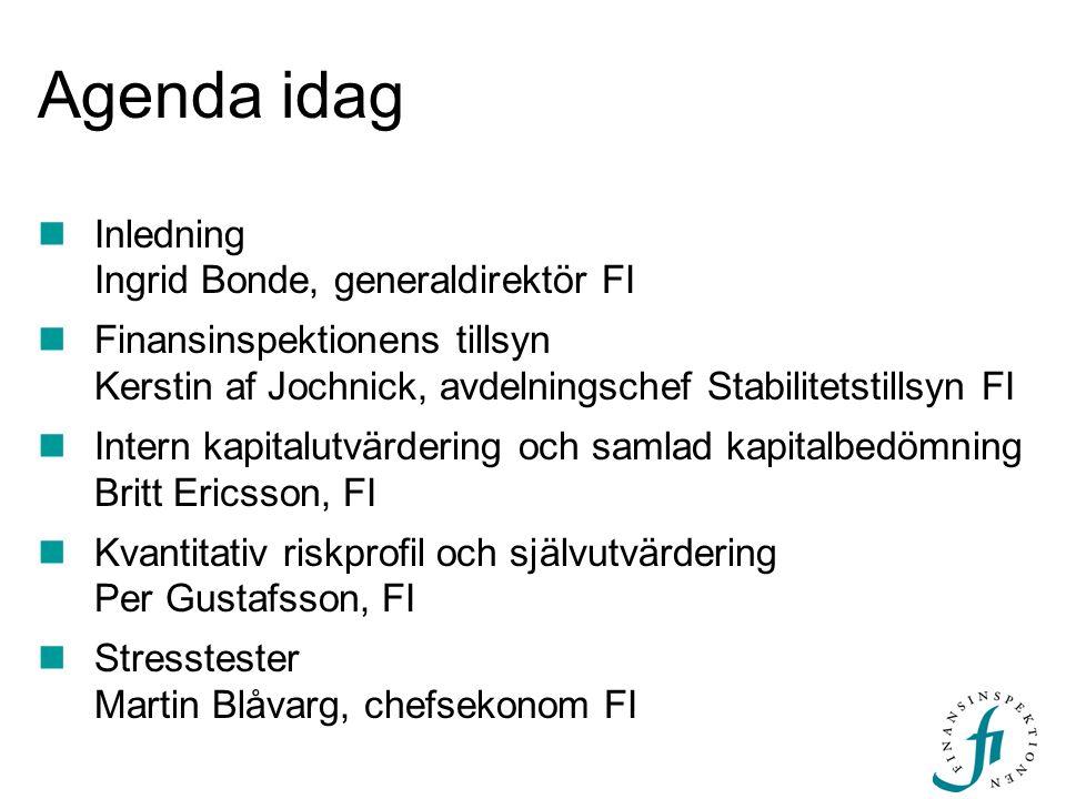 Agenda idag Inledning Ingrid Bonde, generaldirektör FI