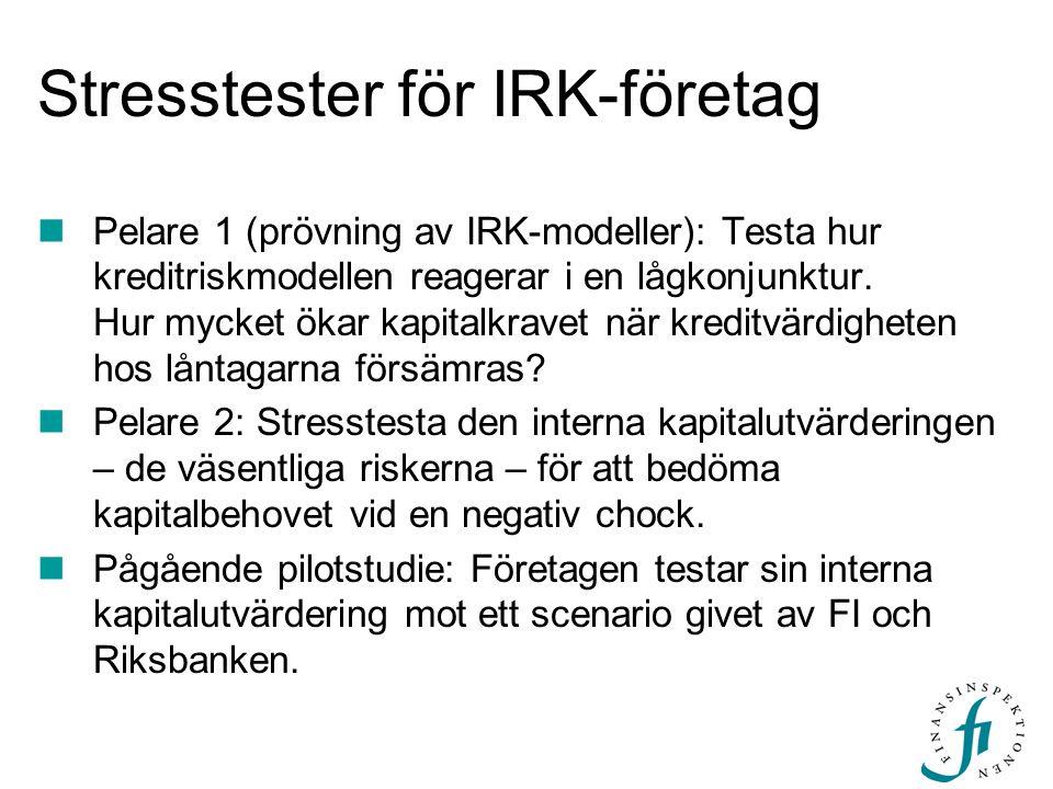 Stresstester för IRK-företag