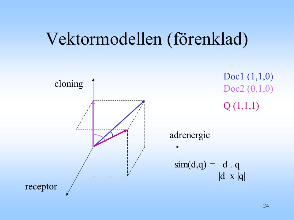 Vektormodellen (förenklad)