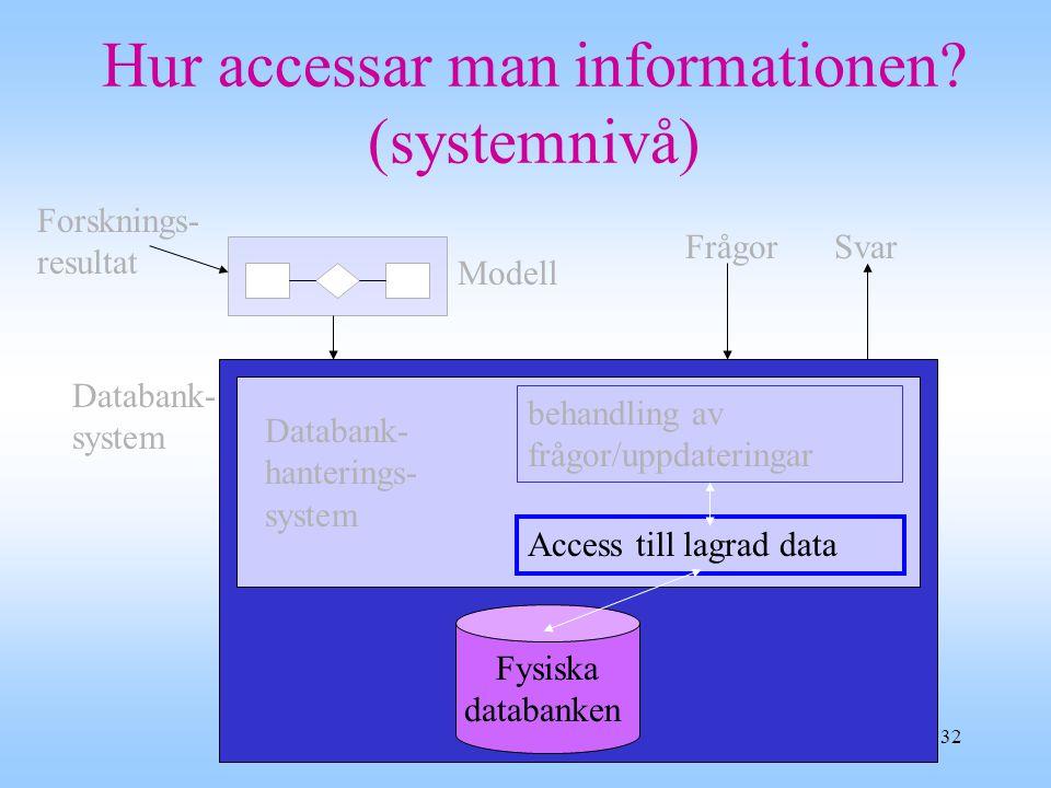 Hur accessar man informationen (systemnivå)
