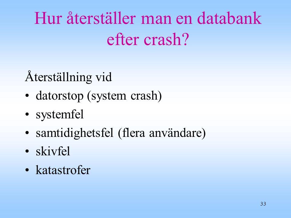 Hur återställer man en databank efter crash