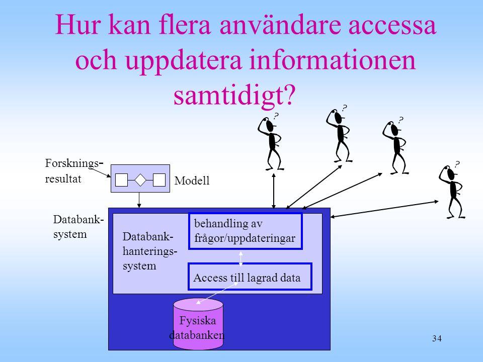 Hur kan flera användare accessa och uppdatera informationen samtidigt