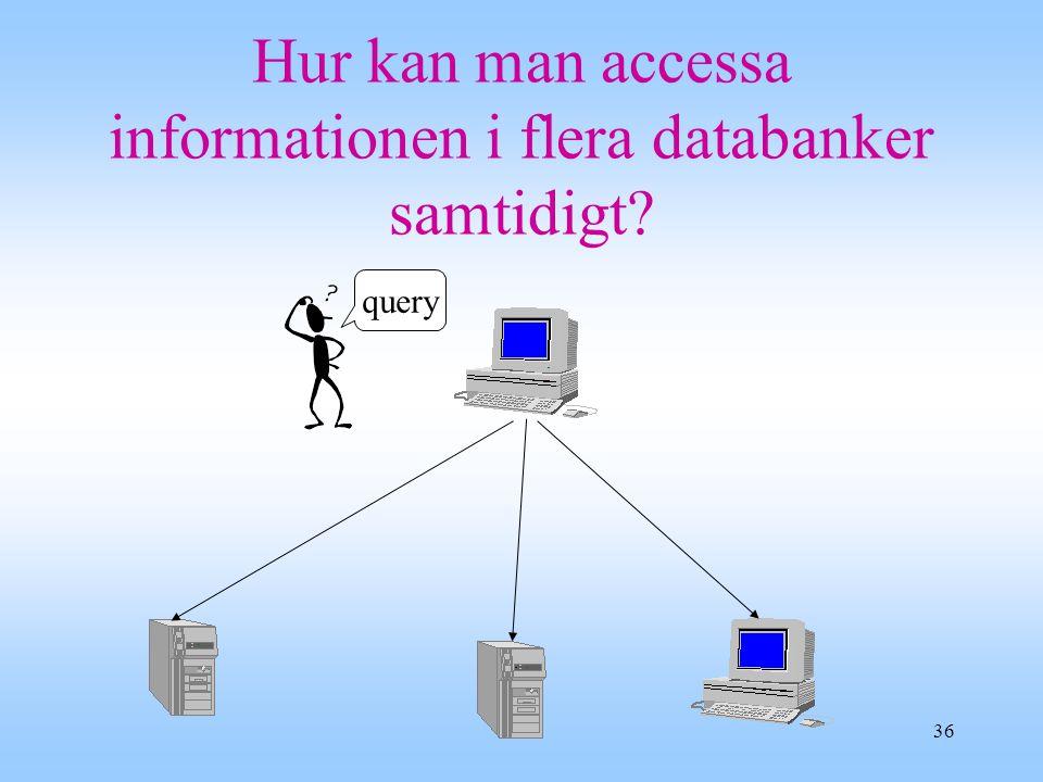 Hur kan man accessa informationen i flera databanker samtidigt