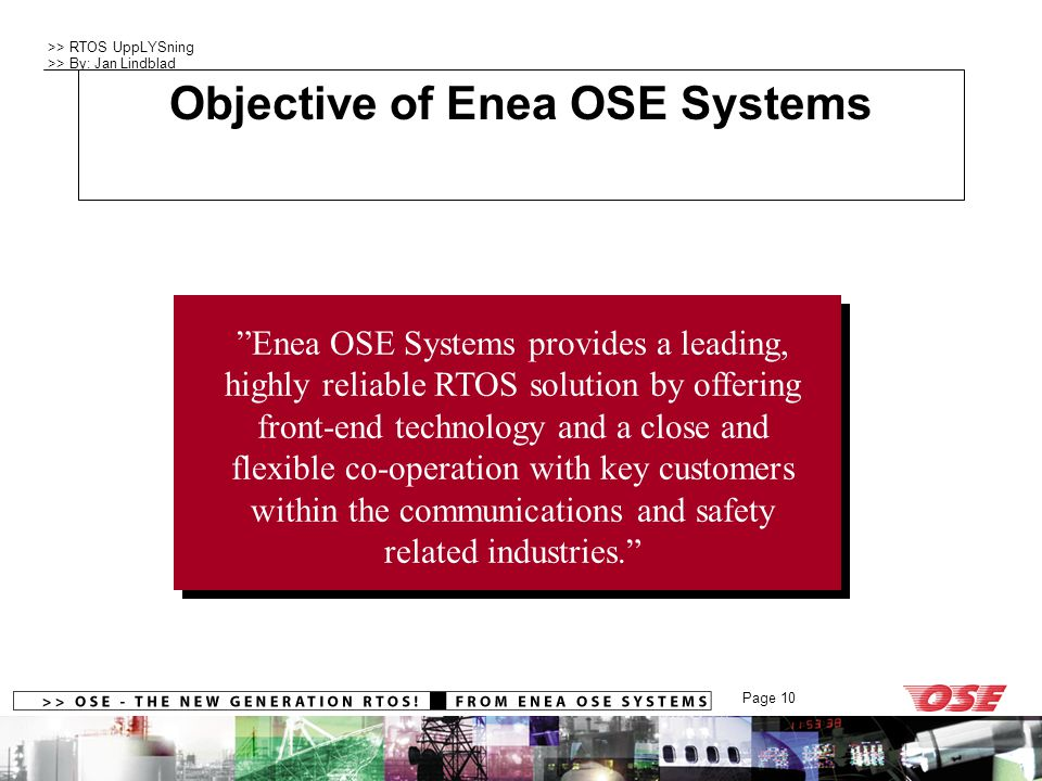 Objective of Enea OSE Systems