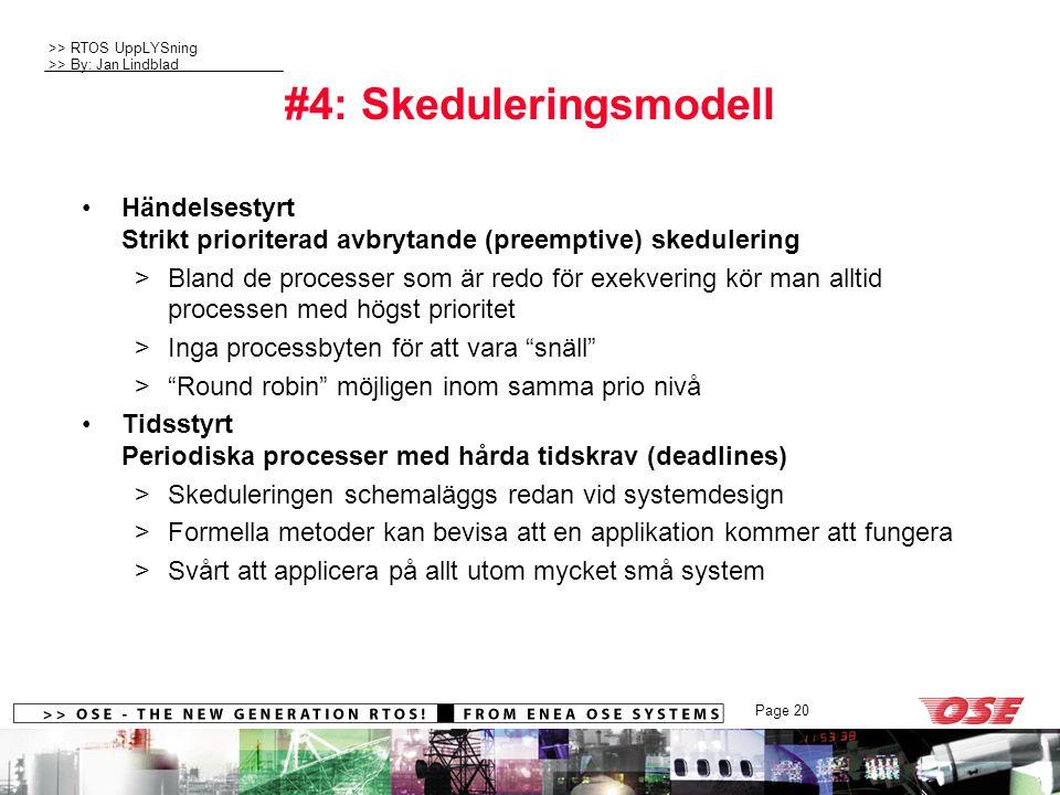 #4: Skeduleringsmodell