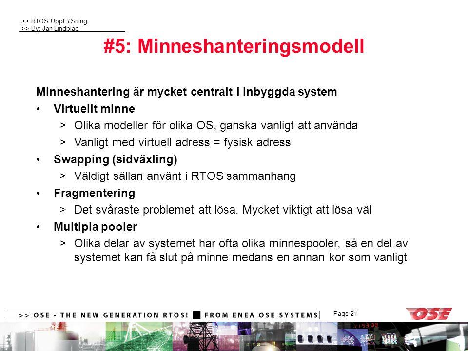 #5: Minneshanteringsmodell
