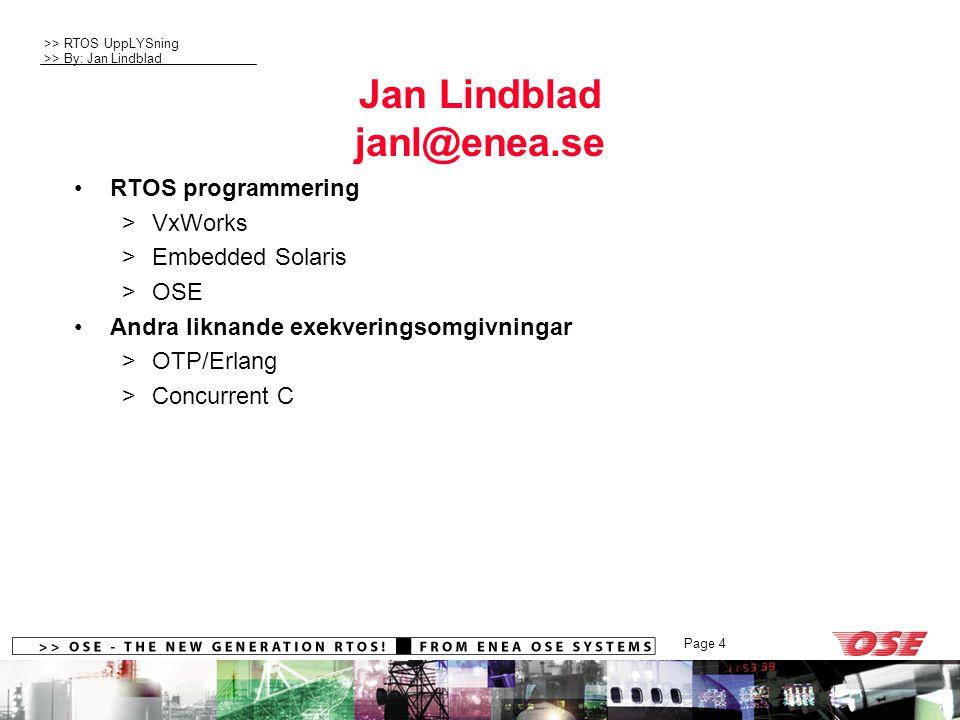 Jan Lindblad janl@enea.se