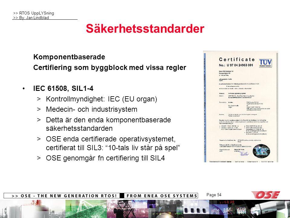 Säkerhetsstandarder Komponentbaserade