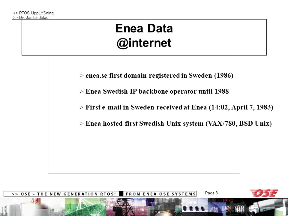 Company Profile Enea Data @internet