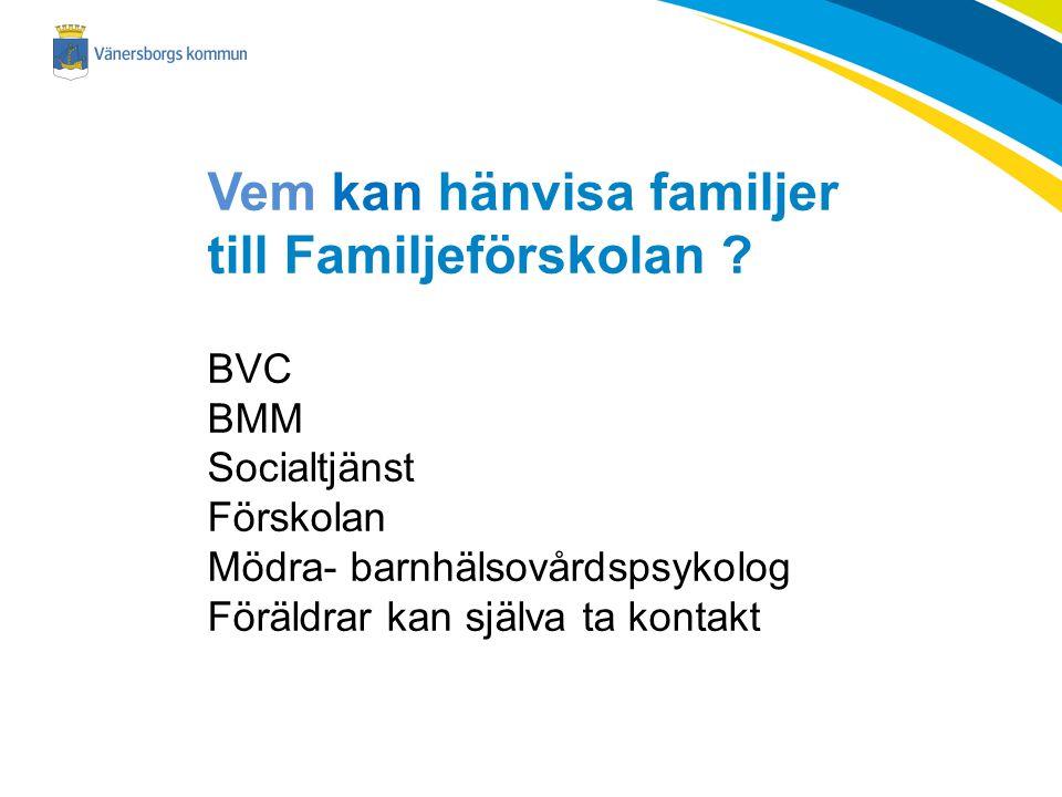 Vem kan hänvisa familjer till Familjeförskolan