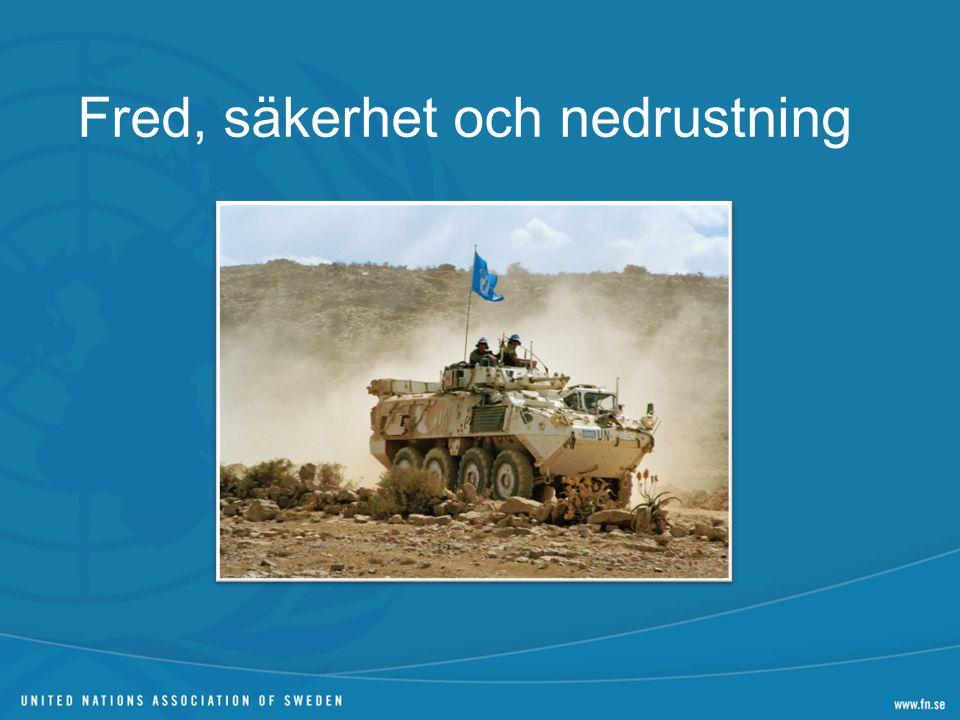 Fred, säkerhet och nedrustning