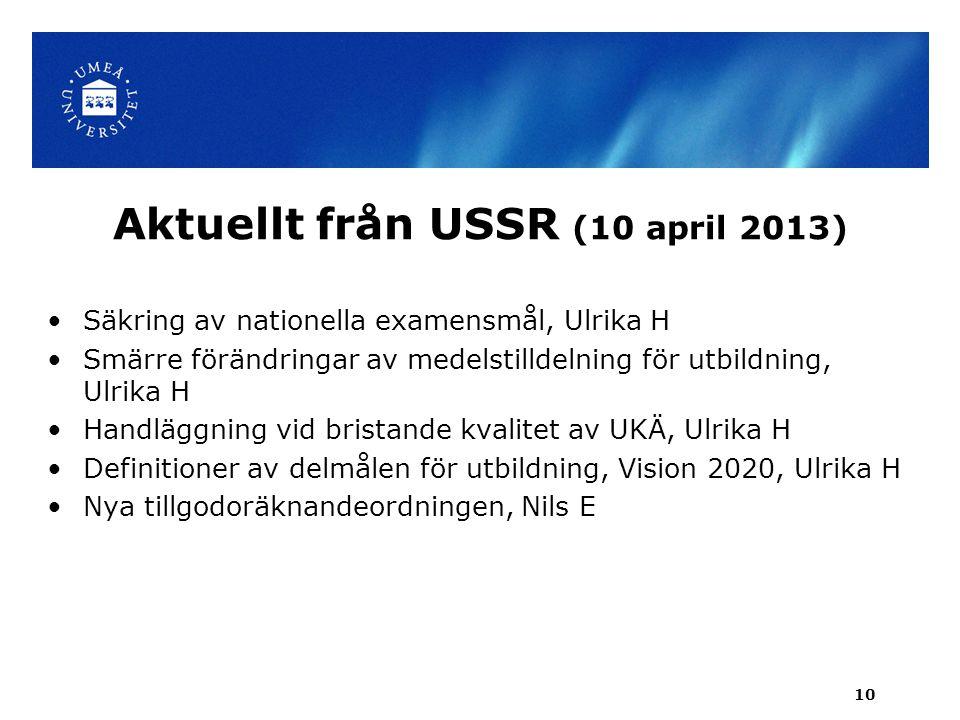 Aktuellt från USSR (10 april 2013)