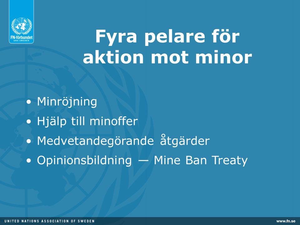 Fyra pelare för aktion mot minor