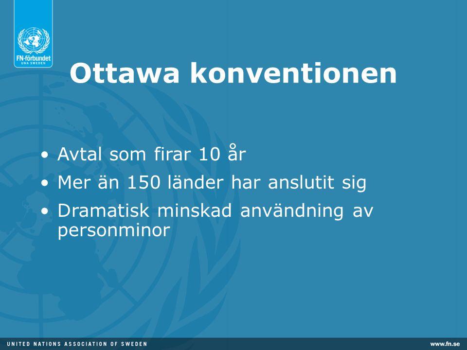 Ottawa konventionen Avtal som firar 10 år