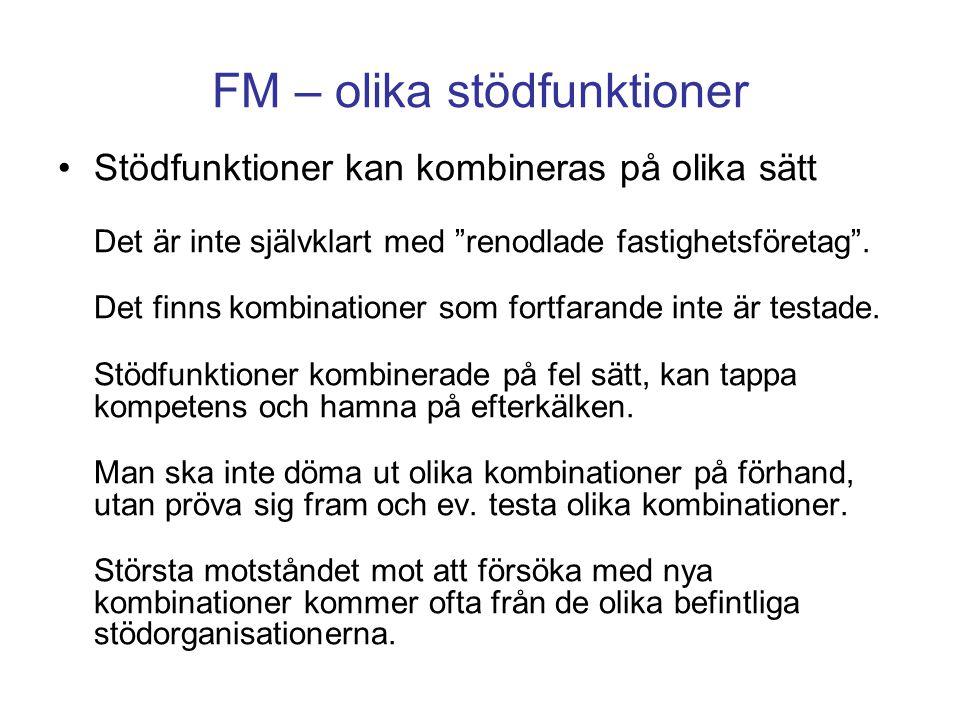 FM – olika stödfunktioner