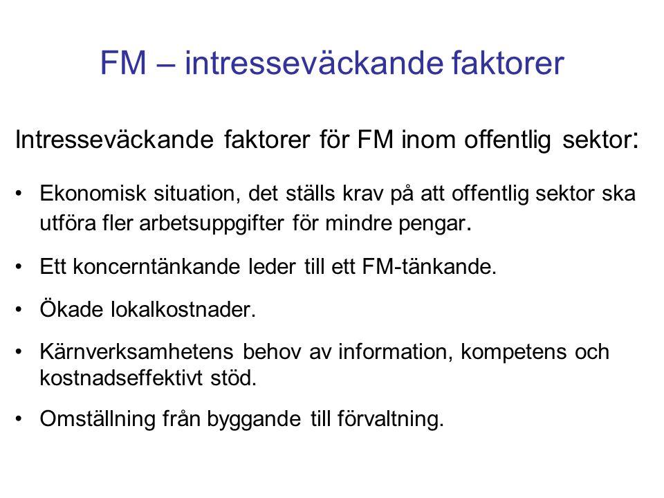 FM – intresseväckande faktorer