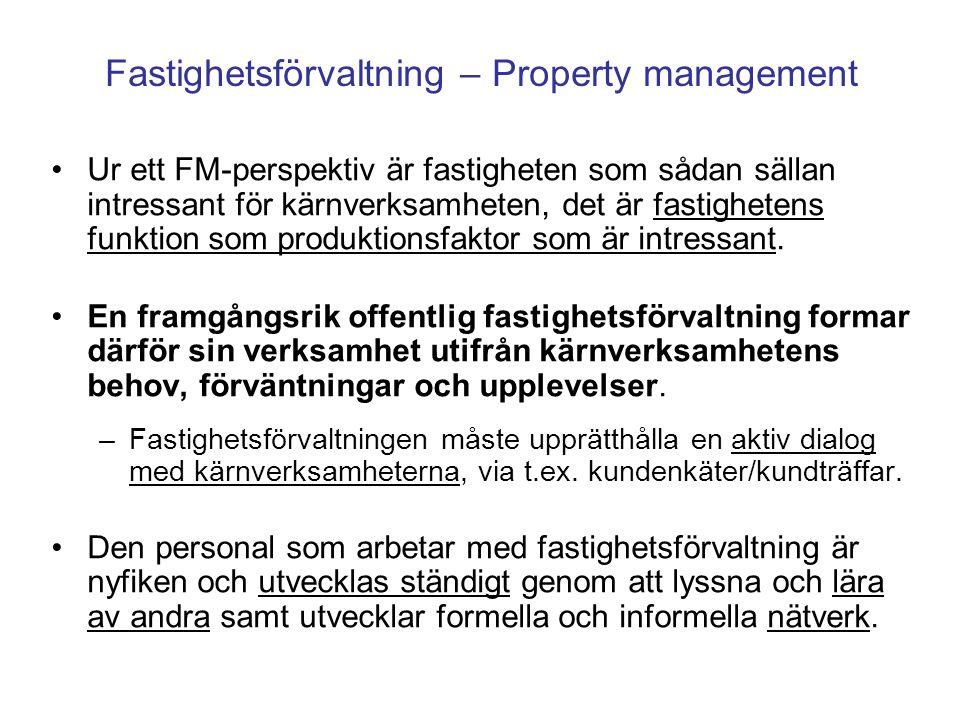 Fastighetsförvaltning – Property management