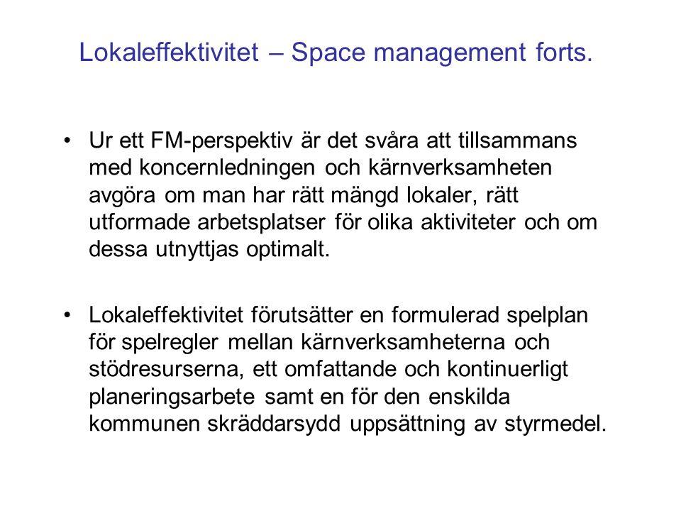 Lokaleffektivitet – Space management forts.