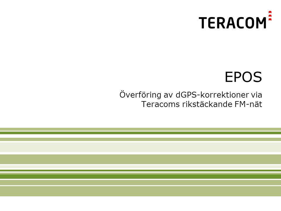 Överföring av dGPS-korrektioner via Teracoms rikstäckande FM-nät