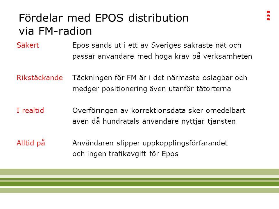 Fördelar med EPOS distribution via FM-radion
