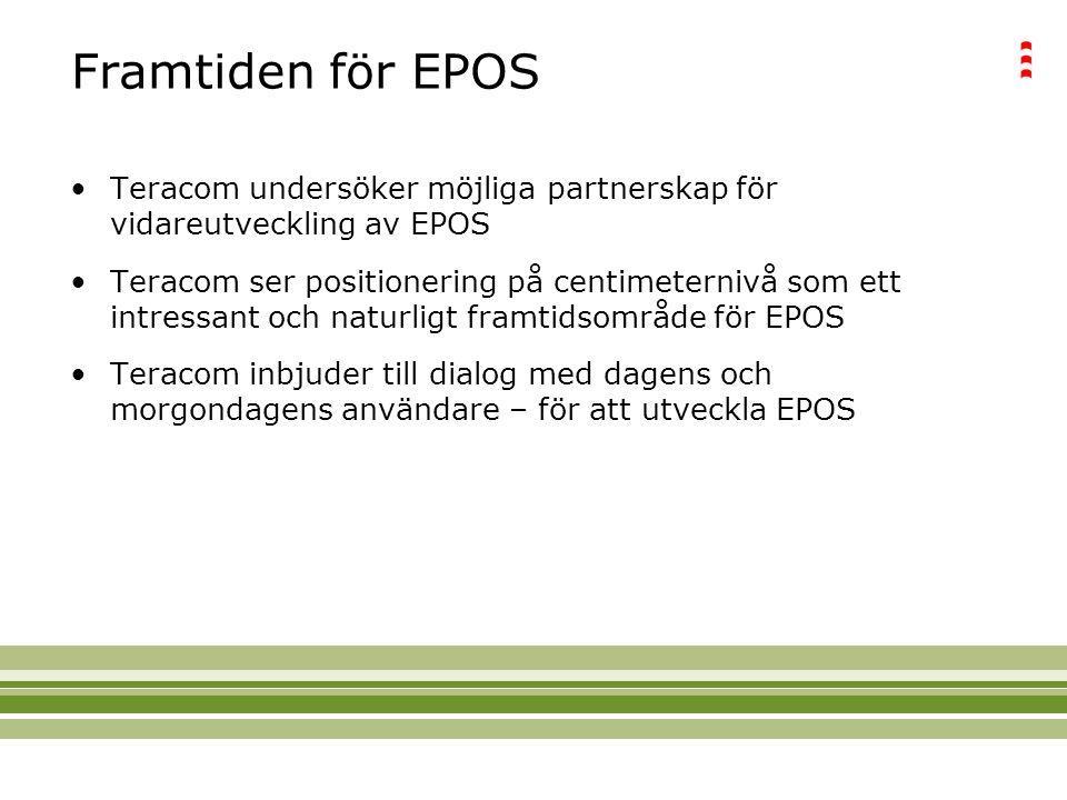 Framtiden för EPOS Teracom undersöker möjliga partnerskap för vidareutveckling av EPOS.