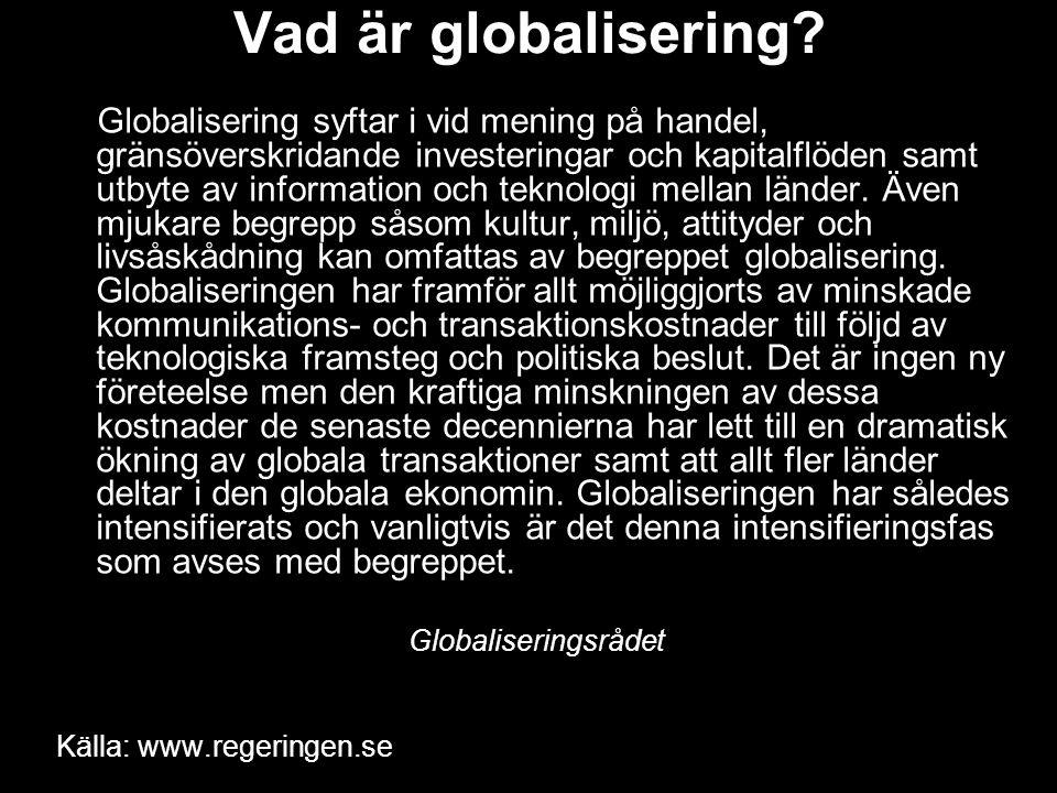 Vad är globalisering