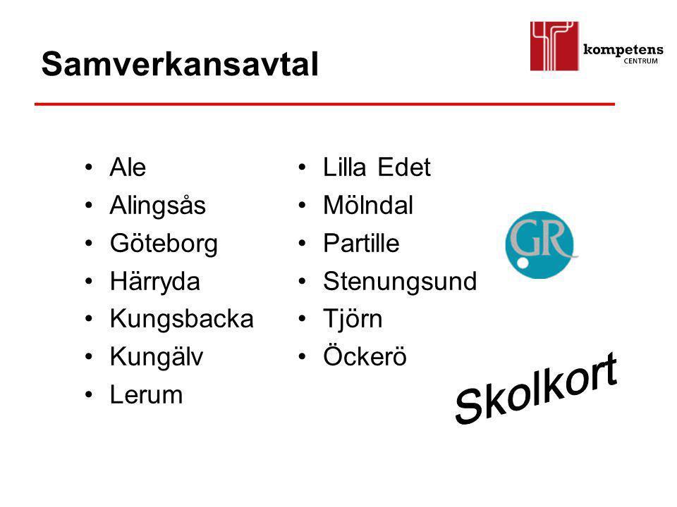 Samverkansavtal Skolkort Ale Alingsås Göteborg Härryda Kungsbacka