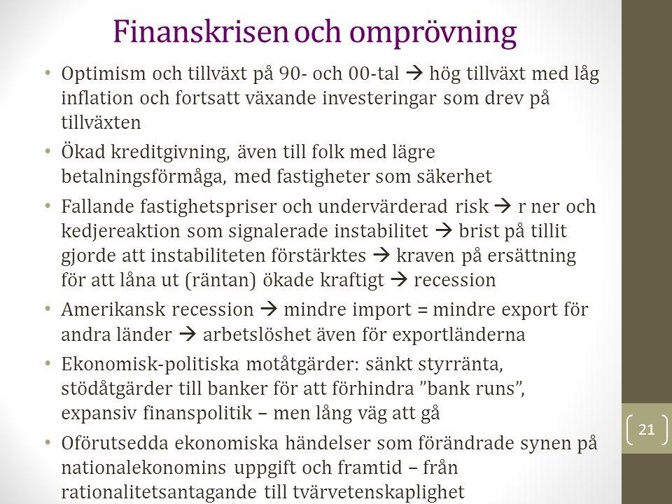 Finanskrisen och omprövning