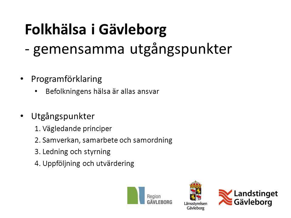 Folkhälsa i Gävleborg - gemensamma utgångspunkter