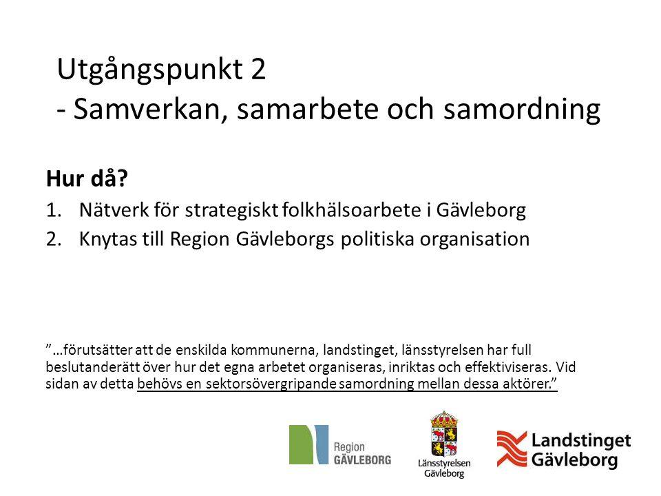 Utgångspunkt 2 - Samverkan, samarbete och samordning