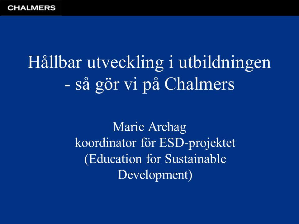 Hållbar utveckling i utbildningen - så gör vi på Chalmers