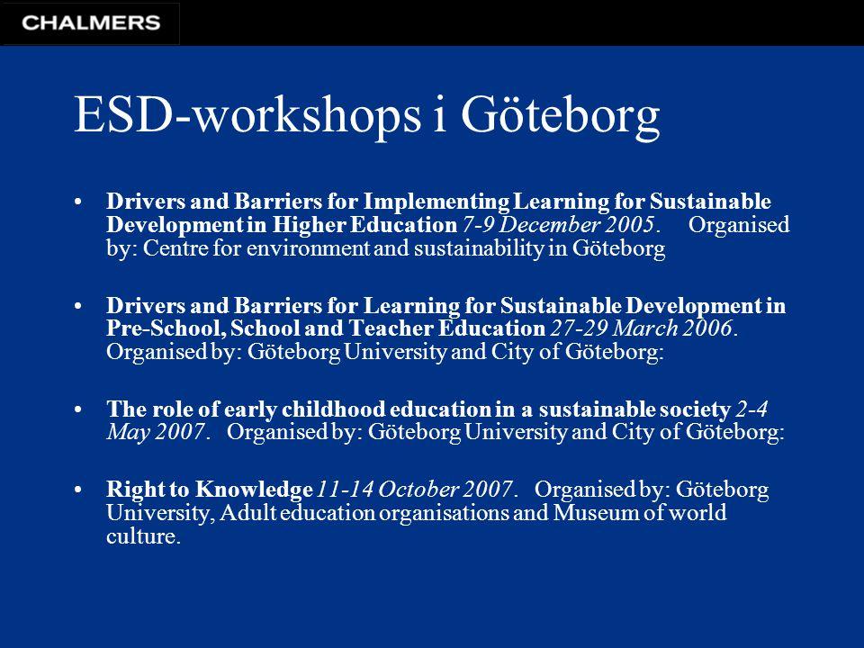 ESD-workshops i Göteborg