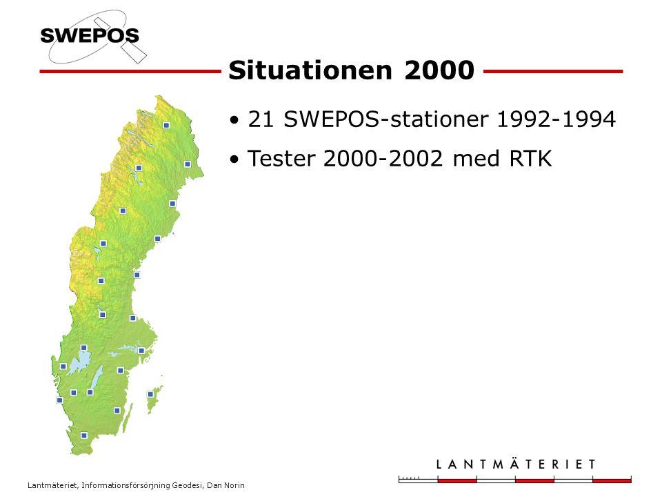 Situationen 2000 21 SWEPOS-stationer 1992-1994