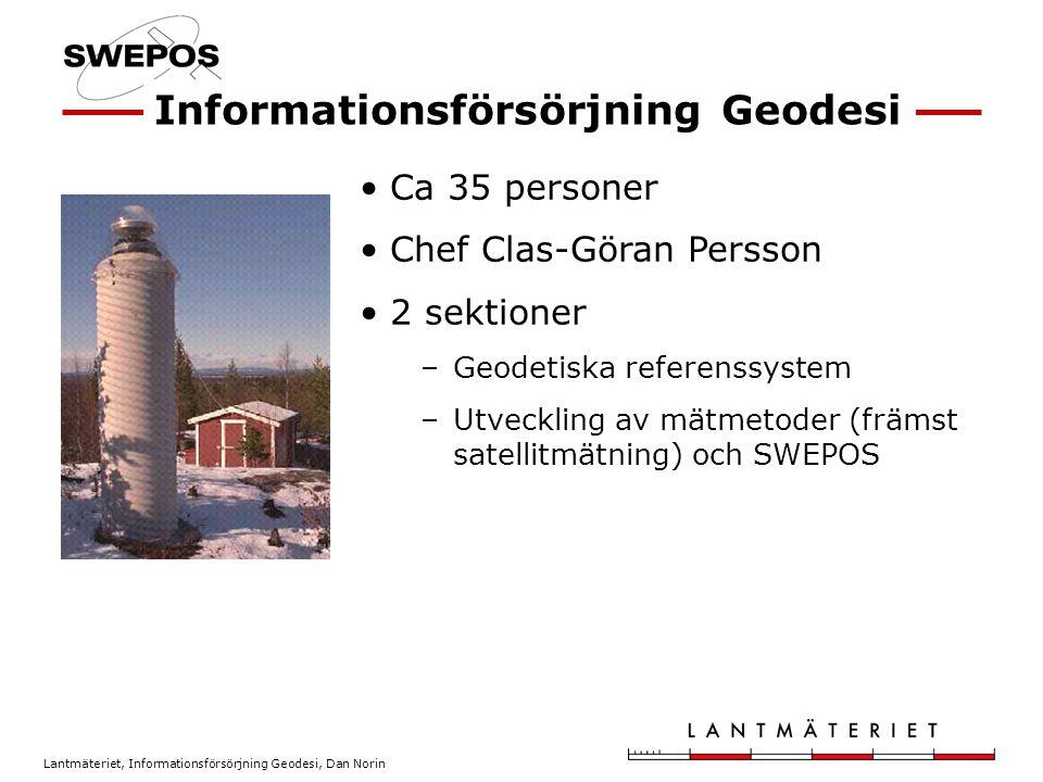 Informationsförsörjning Geodesi