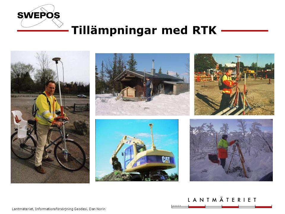 Tillämpningar med RTK